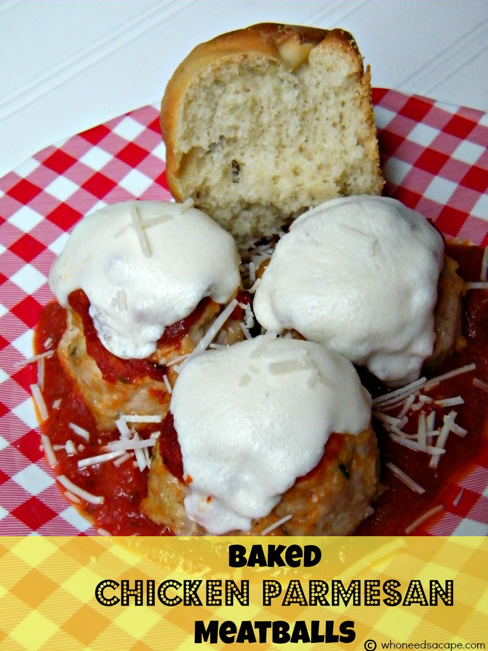 Baked Chicken Parmesan Meatballs - Who Needs A Cape?