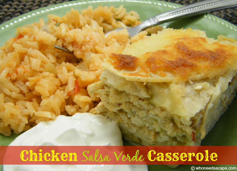 ... this Chicken Salsa Verde Casserole a try, bet you won't be sorry