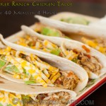 Slow Cooker Ranch Chicken Tacos