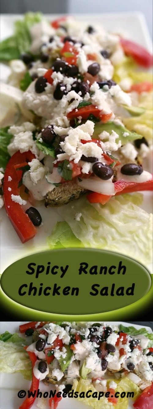 Spicy Ranch Chicken Salad is an easy meal to throw together that the ...