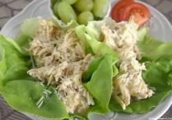 Slow Cooker Shredded Caesar Chicken