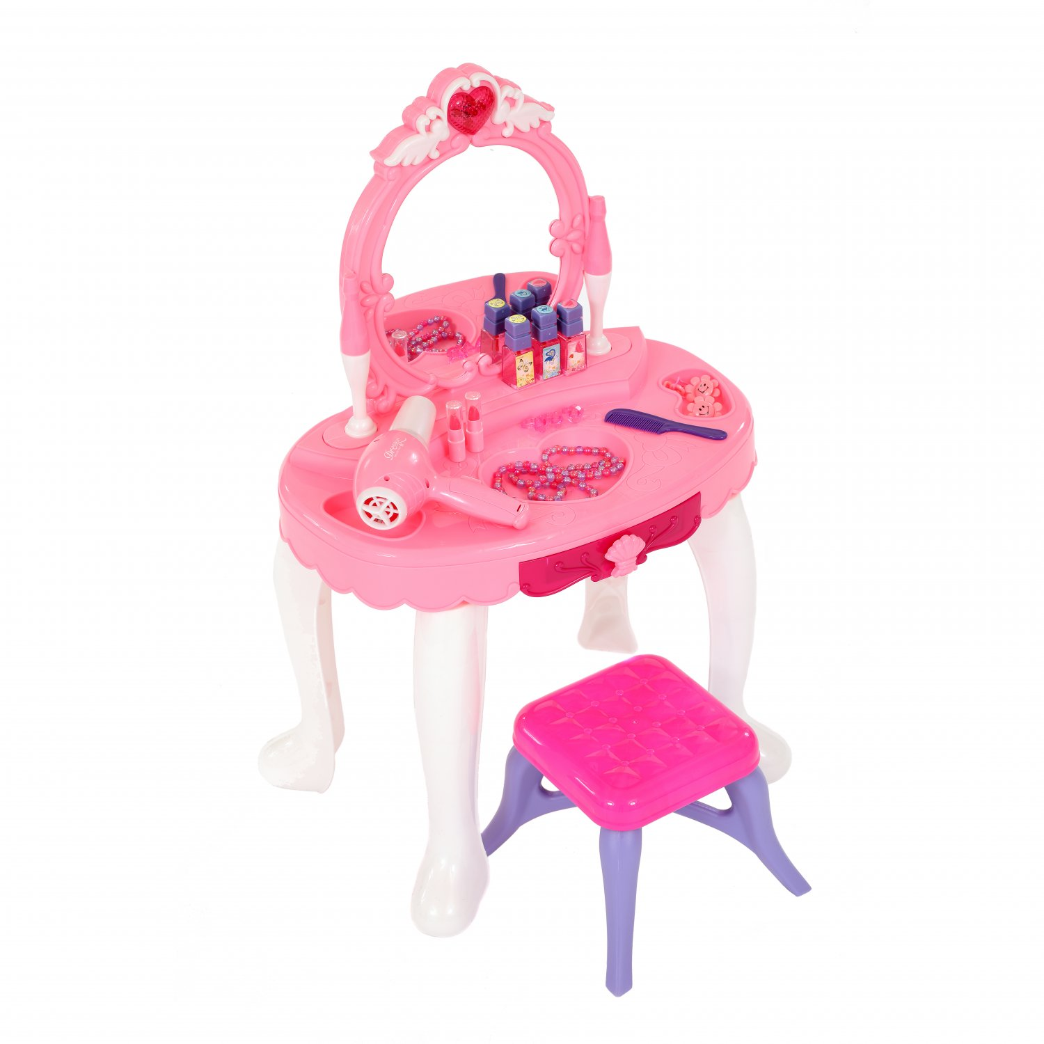 Girls Dressing Table Childrens Kids Girls Play Toy Dressing Table Glamour Mirror 008
