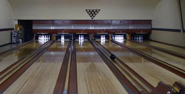 The Sister Bay Bowl is a six-lane bowling alley constructed in 1958. (WhooNEW/Zak Bruss)