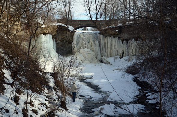The spring thaw at Wequiock Falls. (WhooNEW/Zak Bruss)