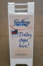 Trolley Stops Here Sign