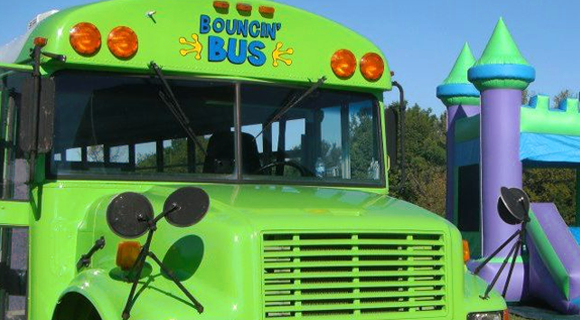 Bouncin' Bus Birthday Party
