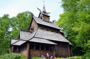 This Stavkirke was patterned off a church in Norway.