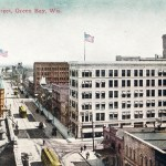 6 Vintage Postcards of Downtown Green Bay