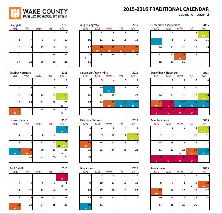 WCPSS Calendar - Mrs Stockdale\u0027s Biology Class