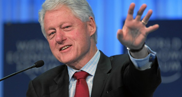 DAVOS/SWITZERLAND, 27JAN11 - William J. Clinton, Founder, William J. Clinton Foundation; President of the United States (1993-2001); UN Special Envoy to Haiti gestures while speaking during the session 'A Conversation with William J. Clinton' at the Annual Meeting 2011 of the World Economic Forum in Davos, Switzerland, January 27, 2011.  Copyright by World Economic Forum swiss-image.ch/Photo by Sebastian Derungs