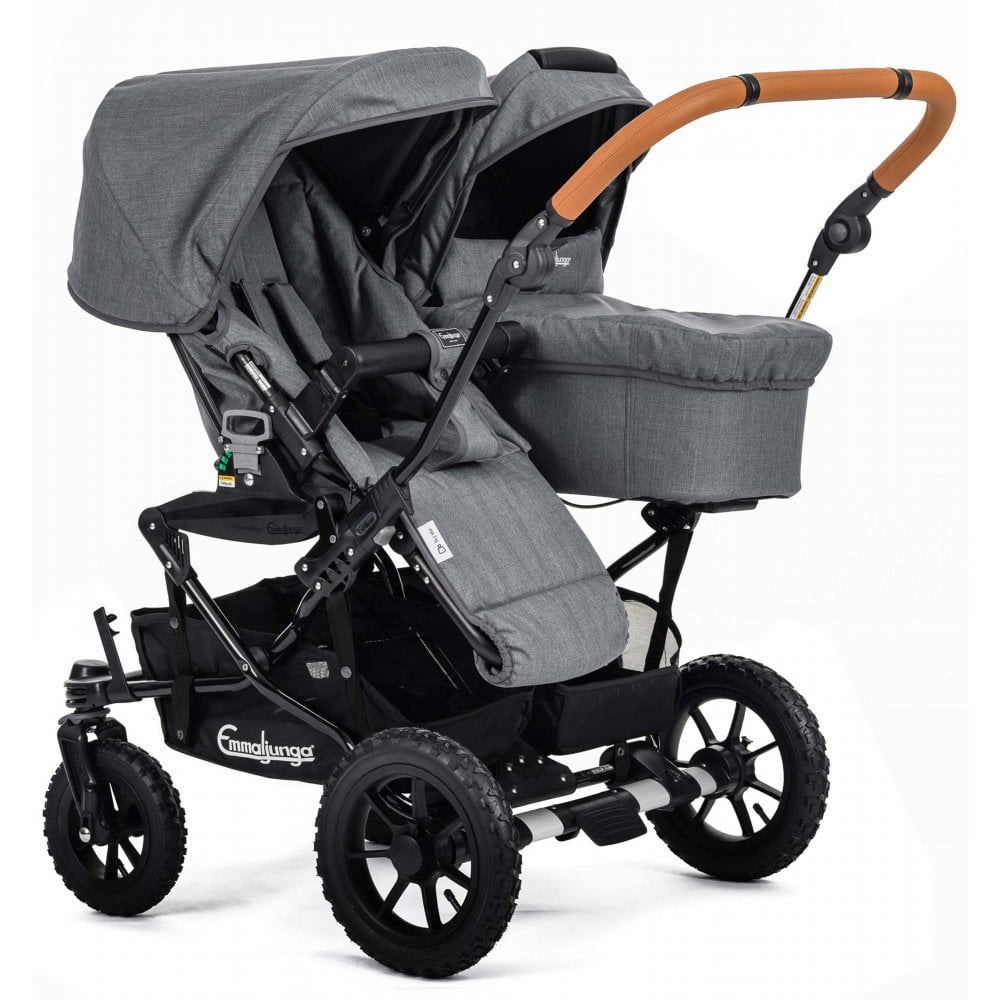 Double Pram Stokke Emmaljunga Double Viking 735 Twin Pushchair At W H Watts