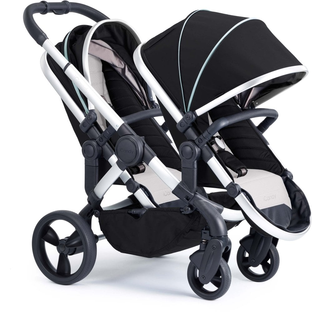 Double Pram Stokke Icandy Peach Double Stroller Satin Beluga From W H Watts