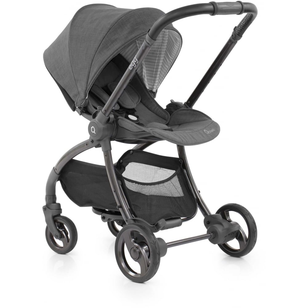 Oyster Pram Grey Egg Quail Stroller Quantum Grey Available From W H Watts