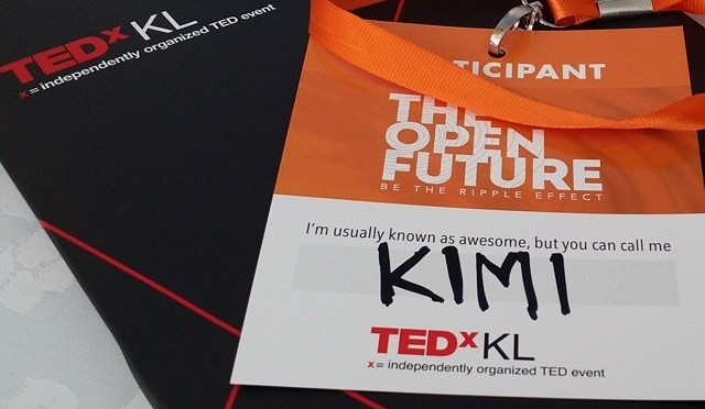 Hola! I'm Kimi, and I'm here for #TEDxKL2014 #yam