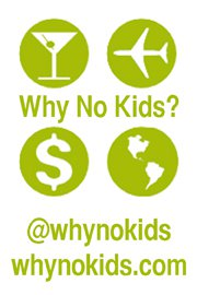 Why No Kids? logo on Facebook and Twitter