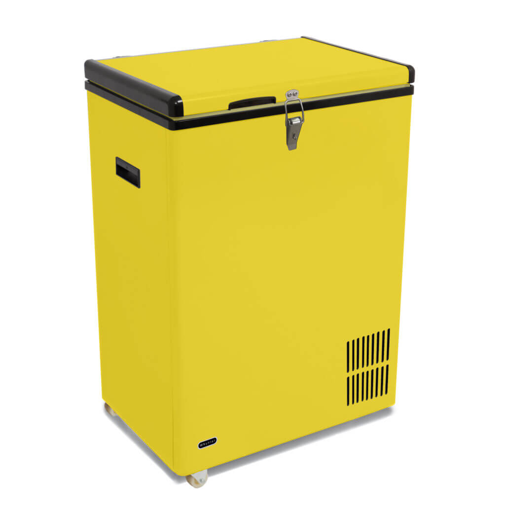 Yellow Fridge Freezer Fm 951yw Whynter 95 Quart Portable Wheeled Refrigerator