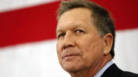 Gov. John Kasich, R-Ohio, speaks at the Republican Leadership Summit Saturday, April 18, 2015, in Nashua, N.H. (AP Photo/Jim Cole)