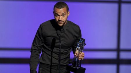 Jesse Williams takes the stage at the BET Awards at the Microsoft Theater on Sunday, June 26, 2016, in Los Angeles. (Photo: Matt Sayles, Matt Sayles/Invision/AP)