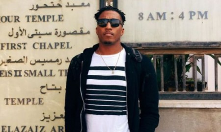 (PHOTO: FACEBOOK/LECRAE) Lecrae visits Egypt and Rome and poses for a photo outside of Egyptian tourist site, Dec 13. 2016.