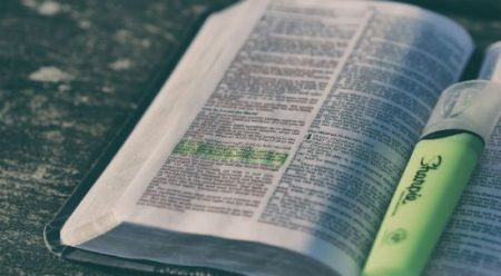 One place Americans are still likely to hear the Bible read is in church. And many Protestant pastors try to encourage their flocks to give the Bible a try. (Public Domain)