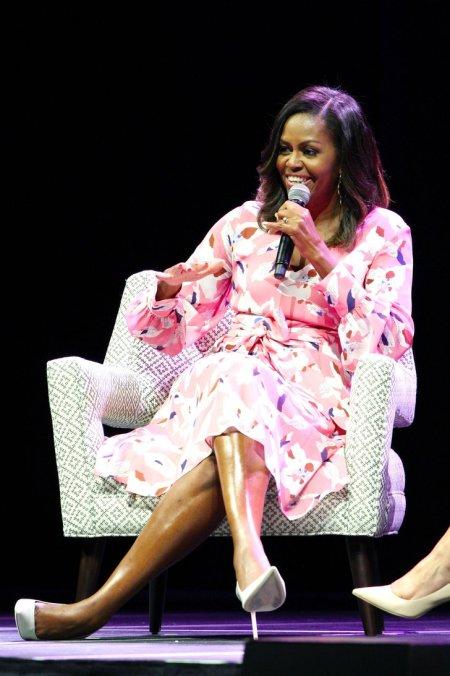 Michelle-Obama-Pink-Floral-Dress