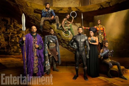 Wakanda's Ruling Class  It's a sumptuous photo, but there's too much happening in this image to do it justice in a single gallery caption. For a deeper exploration (and a much larger version of the picture) click over to this story: The Wakanda Royal Portrait.