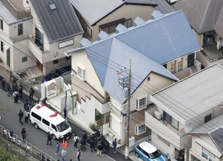 The residence of Takahiro Shiraishi in the city of Zama, southwest of Tokyo, on Tuesday. The police said Mr. Shiraishi had acknowledged killing one person and dismembering the body. Kyodo News, via Associated Press