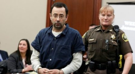 Larry Nassar, a former team USA Gymnastics doctor who pleaded guilty in November 2017 to sexual assault charges. (REUTERS/Brendan McDermid)
