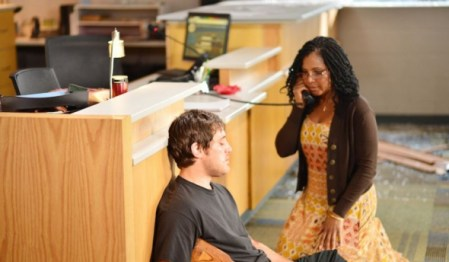 """(PHOTO COURTESY OF LIFETIME) (L to R) Trevor Morgan and Toni Braxton star in """"Faith Under Fire,"""" premiering on Lifetime January 27, 2018."""