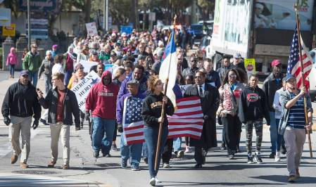 People march on MLK Day in St. Augustine, FL