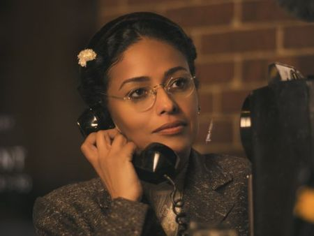 Meta Golding as Rosa Parks in 'Behind the Movement,' an original movie for TV One. (Photo: 'Behind the Movement')