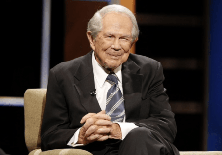 Pat Robertson, 87, was rushed to a hospital on Friday after displaying symptoms of a stroke (AP)