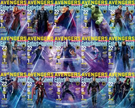 Avengers: Infinity War assembles  For our new double issue devoted to Marvel's Avengers: Infinity War, we present 15 distinct covers featuring 22 heroes and one Mad Titan. In this gallery, we get up close with each of them.