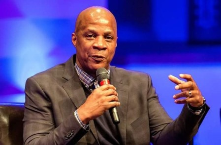"Darryl Strawberry was the keynote speaker during an ""Epidemic of Hope"" conference at Breiel Boulevard Church of God in Middletown. Strawberry struggled with addictions throughout his Major League Baseball career. RICK McCCRABB/STAFF"