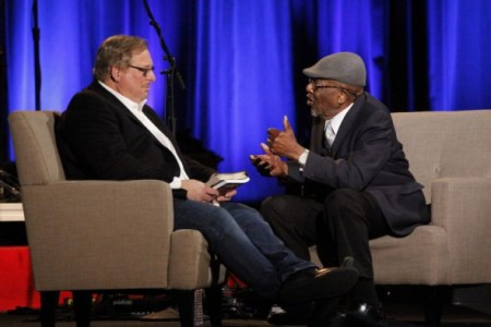 (PHOTO: THE CHRISTIAN POST)Rick Warren and Dr. John Perkins speak during the National Religious Broadcasters' 75th annual convention in Nashville, Tennessee, on Feb. 27, 2018.