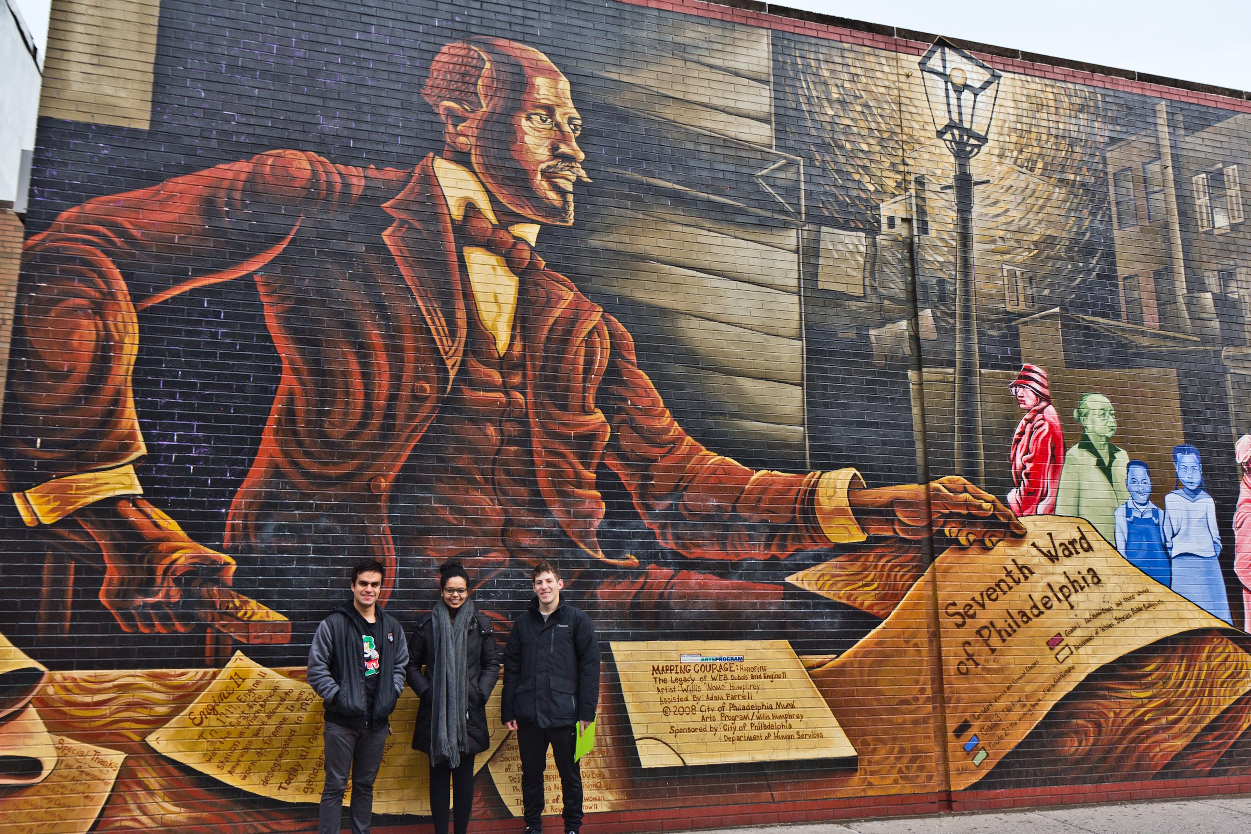 Bois Mural Touring Philly S Black History Along South Street From Du Bois