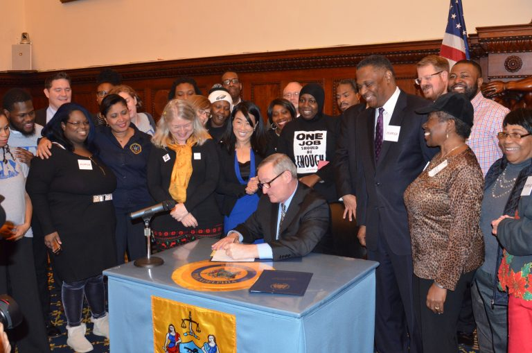 Kenney signs Fair Workweek bills for Philly low wage workers \u2014 WHYY