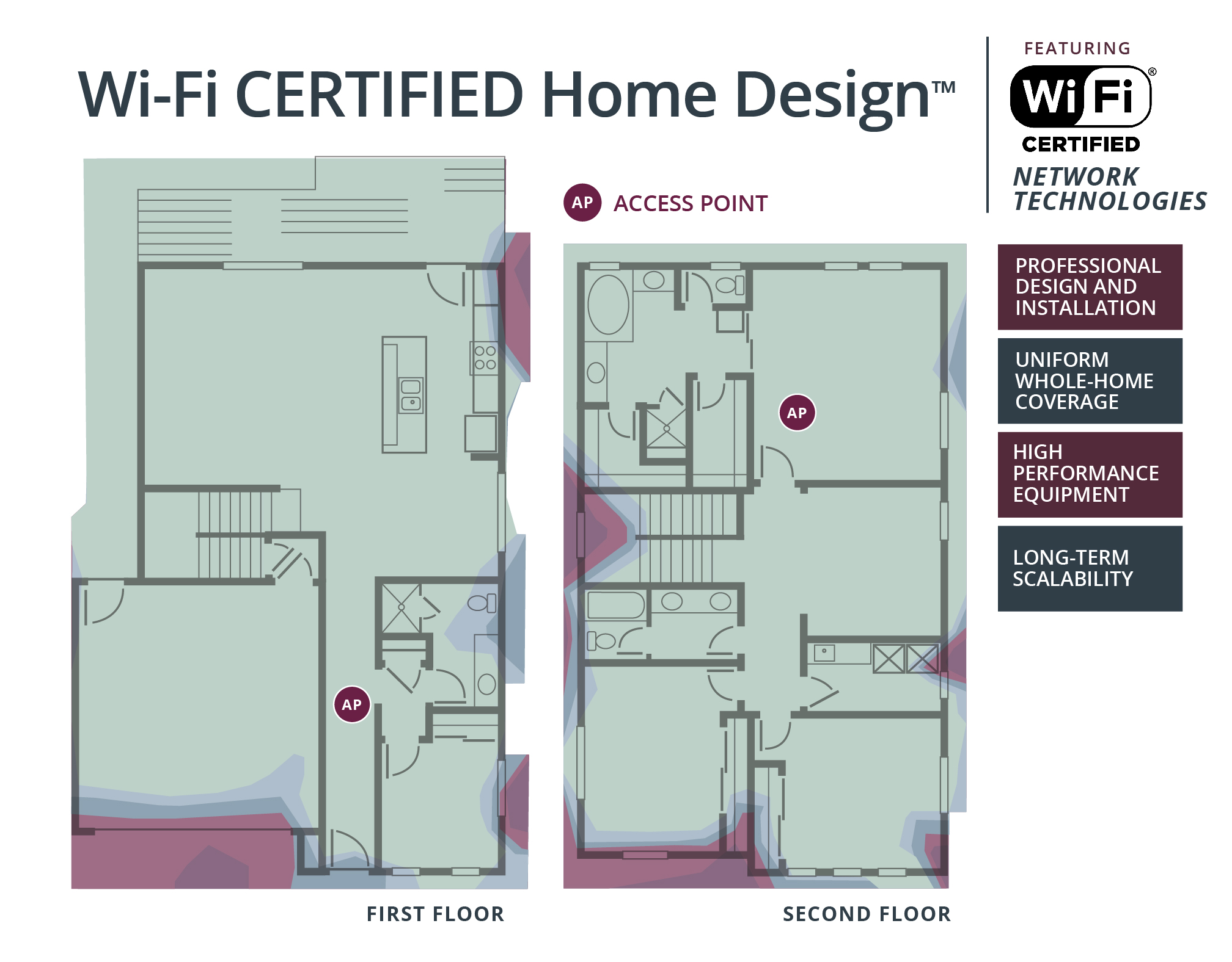 Home Design Floor Plan Wi Fi Home Design Wi Fi Alliance