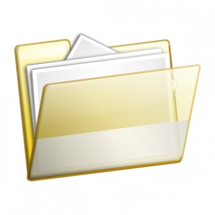 File folder and documents