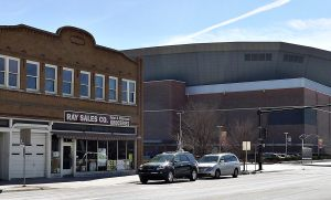 Ray Sales Co., in the shadow of Intrust Bank Arena.