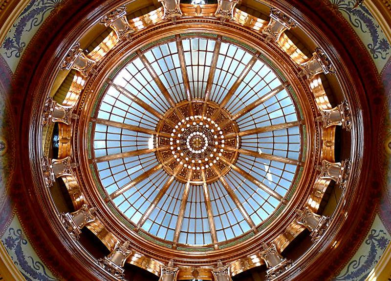Dome of the Kansas Capitol, 2014.