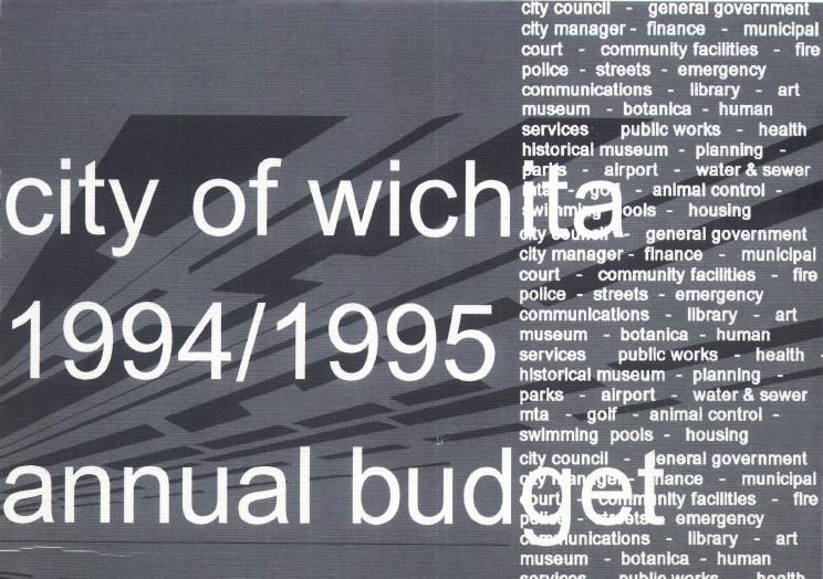 Wichita City Budget Cover, 1994