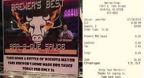 Wichita's mayor sells his barbeque sauce at movite theaters owned by a campaign contributor who receives city taxpayer subsidies.