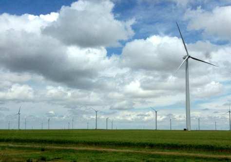 Wind farm near Spearville, Kansas.