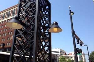 Street lights in downtown Wichita, July 22, 2014.