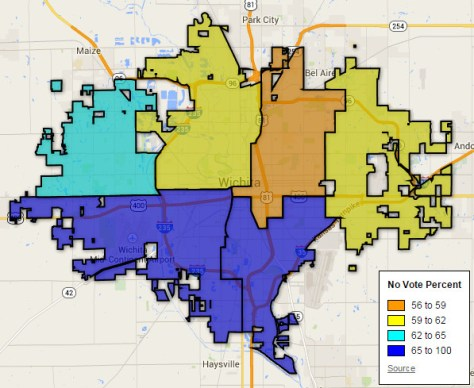 District  Map, Wichita Sales Tax Votes, 2014-11-04