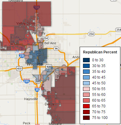 Precinct Map, Sedgwick County Commission 4 and 5 2014-11-04