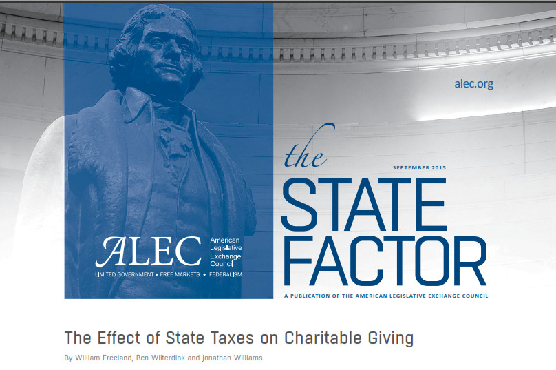 ALEC State factor charitable giving cover image