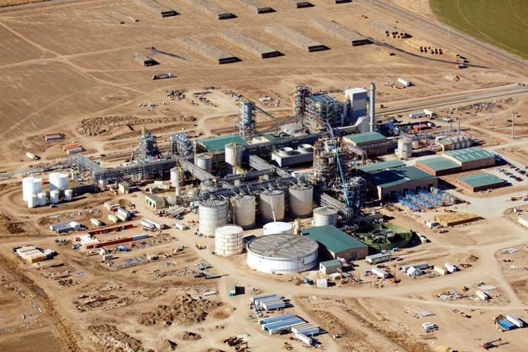 Abengoa cellulosic ethanol plant Hugoton Kansas