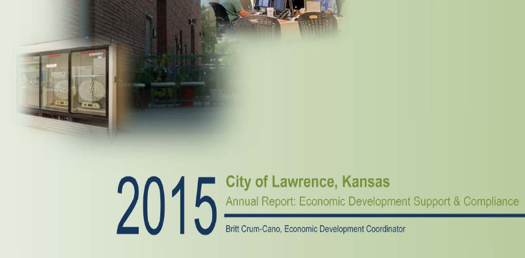 Lawrence economic development report cover 2015